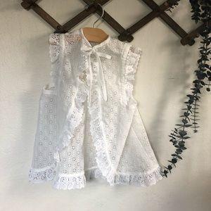 Vintage lace vest flexible sizing 3t-5t.